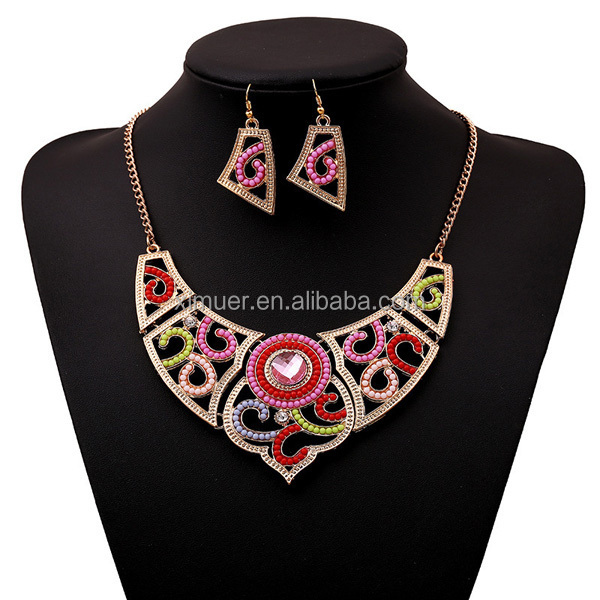 Latest wholesale elegant colorful seed beaded necklace