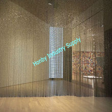 Decorative Ceiling Hanging Gun Metal Beaded Curtain Room Partition