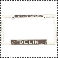 Chrome usa car zinc alloy license plate frame zinc alloy license plate