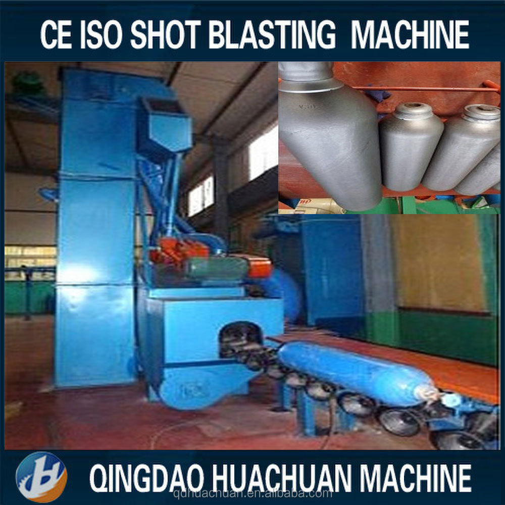 LPG cylinder outer wall surface shot blasting grinding cleaning machine