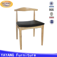 Durable and strong restaurant PU seat wooden dining room chair parts