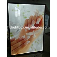 LED magnetic acrylic slim crystal light box LED Window Display Real Estate Sign Frame