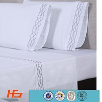 Embroidery 4 Pieces White Cotton Bed In A Bag Wholesale