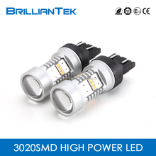 Super Bright White Yellow(Halogen) 2 Years Warranty Constant Current 12v Car LED Lights t20 w21 5w 7443