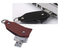 bulk 1gb leather usb flash drives, promotional leather usb 32gb swivel/twister usb flash drive