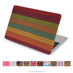 New Arrival Magnetic Leopard Camouflage Wood UK US Flag Heart Designer Hard Case Flip Cover for Macbook Air
