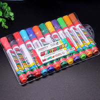 Set of 12 non-toxic whiteboard marker Best For Restaurant Menu Board Glass