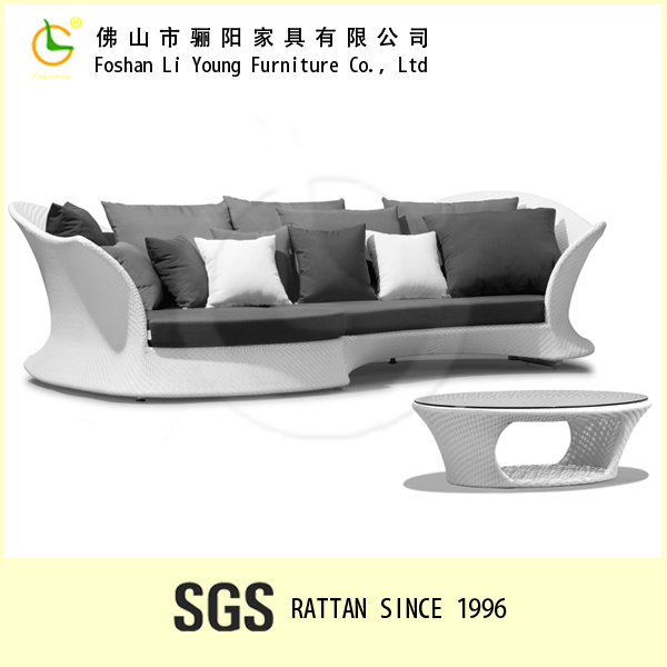 Best Selling Beach Products outdoor rattan garden sofa set Waterproof chaise lounge Leisure Ways Patio Furniture