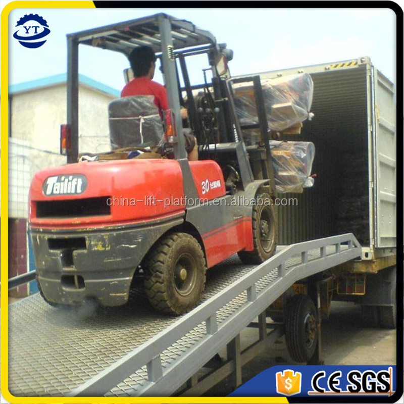 hot sale loading deck for forklift, 10ton mobile container loading ramp for forklift