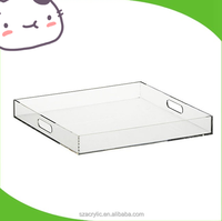 clear lucite acrylic serving tray for juice