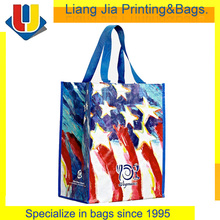 Custom Printed Laminated PP Woven Reusable Grocery Bags