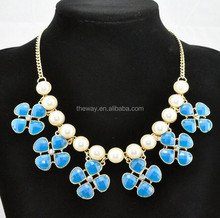 High quality small flower chain necklace fashion jewelry in the market
