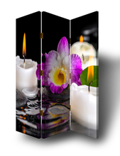 Custom Printed LED candle screen room divider