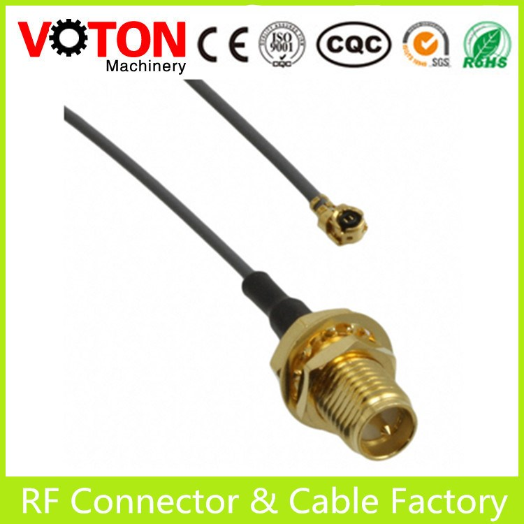 [Factory price]RF connector/cable sma female to mmcx male rf pigtail coaxial cable rg316
