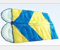 sleeping bag outdoor camping two color patchwork double mummy sleeping bag