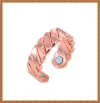 Twisted style pure copper ring