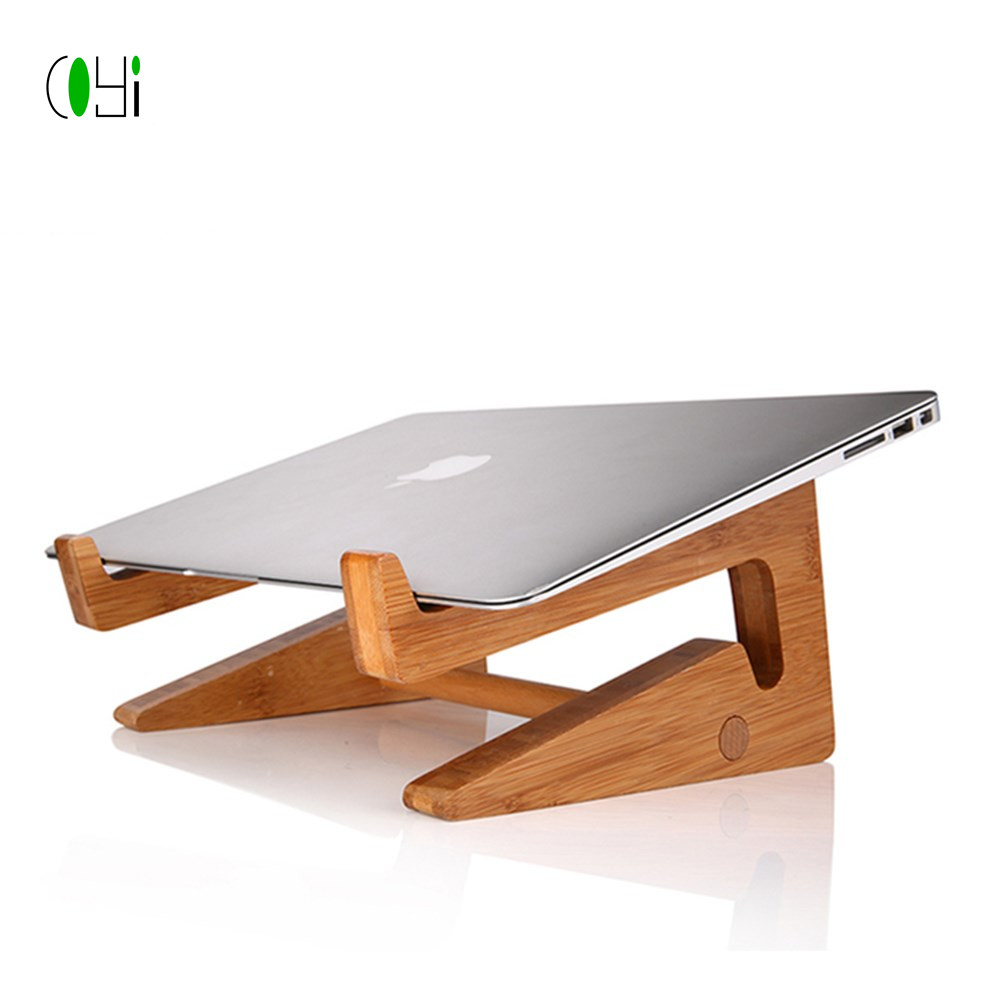 wood laptop stand bamboo laptop stand Origami shaped computer stand