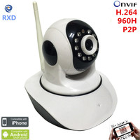 Full HD IP Camera 1.0mp Mega Wifi Wireless PTZ P2P Onvif IR Night SD Card CCTV kamera China For Home Security