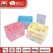 Popular sectional plastic storage drawer(2 layer)