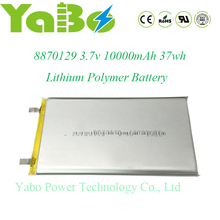 3.7v 10000mAh lithium polymer lipo Battery for power bank gps pc
