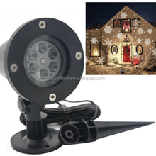 Waterproof Outdoor LED Stage Lights Christmas Laser Snowflake Projector Lamp Home Garden snow Lights