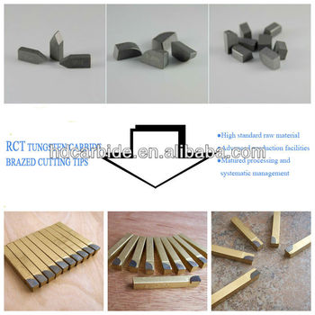customizable tungsten carbide brazed tips