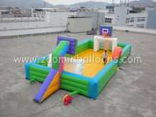 Hot sale inflatable soap football field for football Z5001