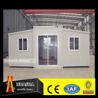 Luxury steel frame prefabricated family living villas