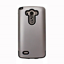 Wholesale price silver color pc tpu armor phone cases cover for lg g3