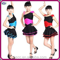 Newest Fashion Design Children's Stage Perference Latin Dance Costumes