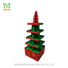 Point Of Sale Festival Custom Christmas Tree Cardboard Display For Promotion Wholesale