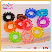 triangle multicolor elastic telephone line/cord hair band for girls