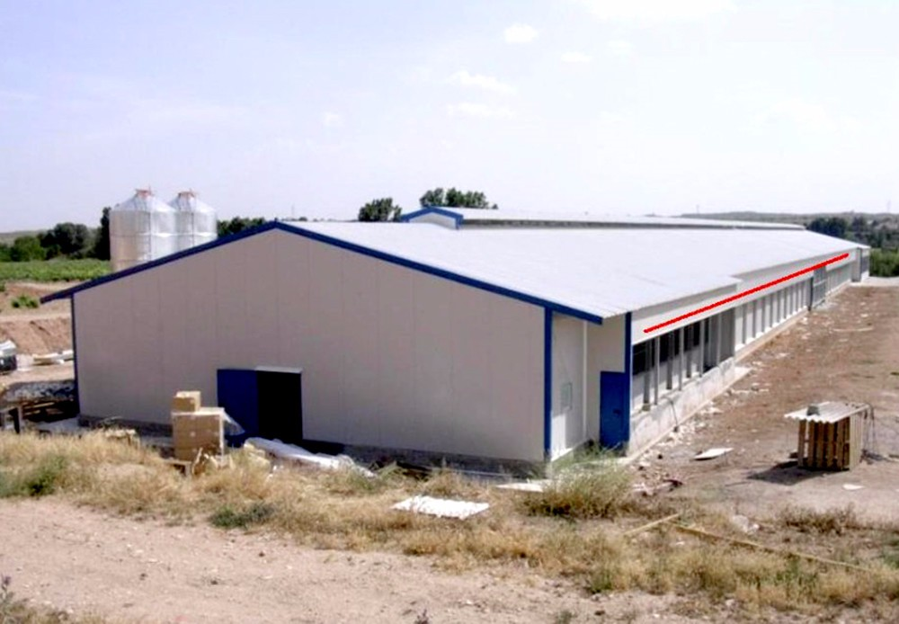 Export to Colombia low cost corrugated steel panel chicken house