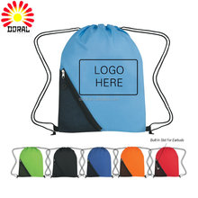 Factory direct sale colorful printing shopping backpack drawstring bag