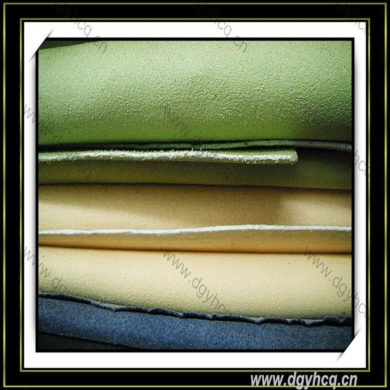 Microfiber faux suede leather synthetic leather artificial leather for shoes boots