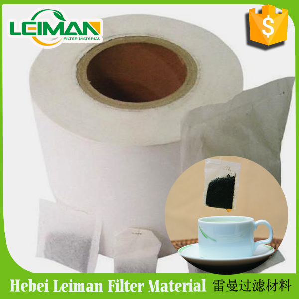 Popular heat sealable filter paper in roll for tea bag