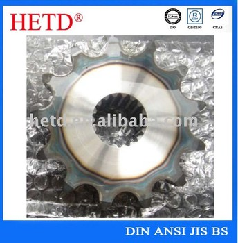 industrial chain sprocket with spline