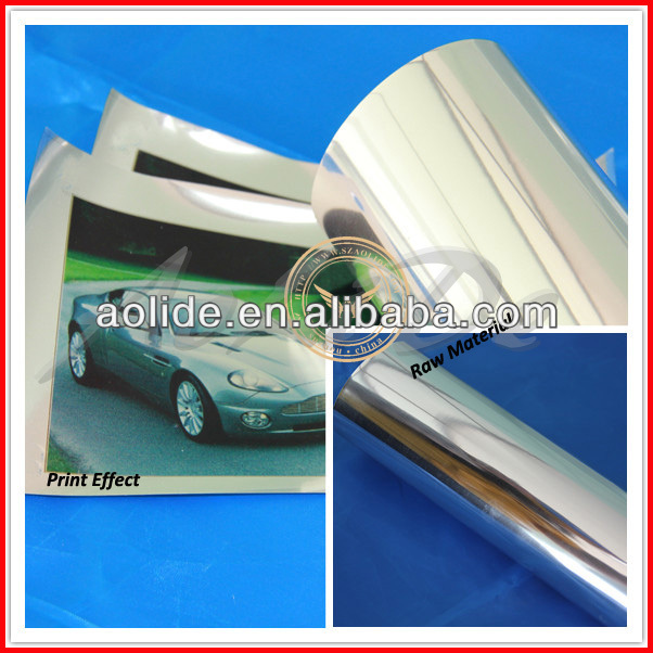 glossy metalized PET film with silver coating