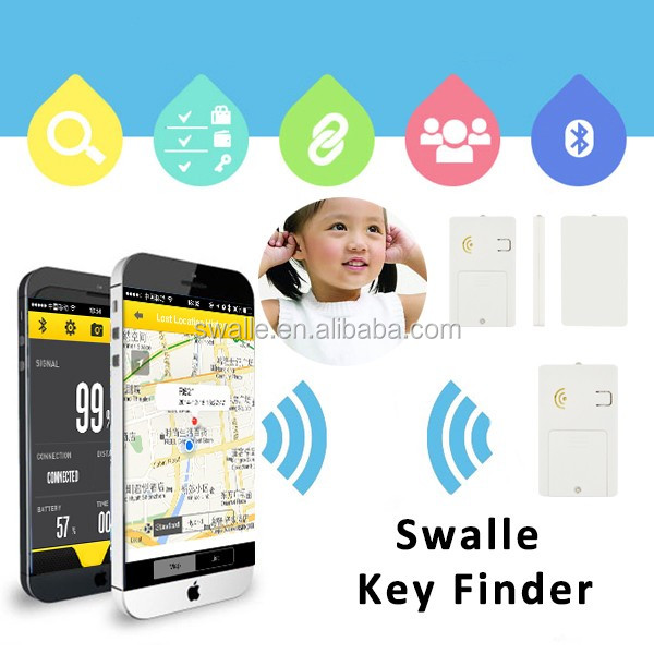 2017 hot selling item key finder keyring bluetooth alarm button Swalle key finder small tracking devices for objects