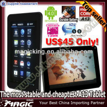 7 inch allwinner a13 mali 400 gpu android 4.0 capacitive hdmi tablet pc
