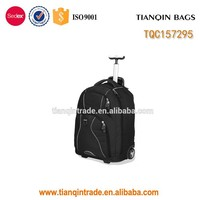 china wholesale trolley backpack travel bag with wheels