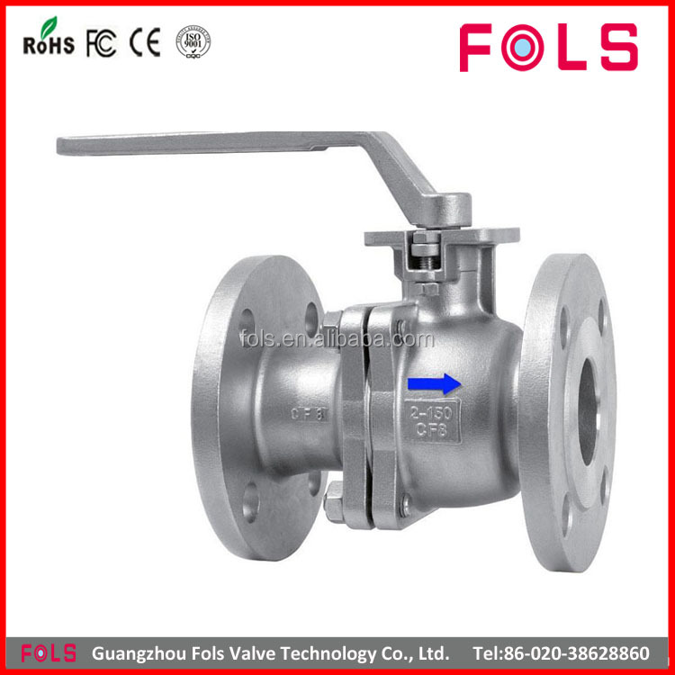 handle lever stainless steel flanged end ball valve dn250