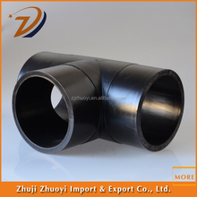 easily handling Hdpe tee water pipe joints and poly pipe fittings