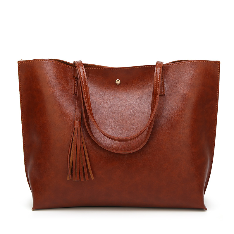 Lady <strong>Designer</strong> Inspired PU Faux Leather Totes Bag Monogram Handbag With Tassel