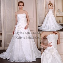 Floor-Length Hemline and OEM Service Supply Type small trailing wedding dresses