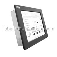 "FP8152T,15"" Panel PC w/Touch Screen, Intel I5-4422E (1.8 to 2.9GHz, 3MB Cache, 1333/1600MHz FSB, 25W), DDR3L-8G, 2GbE, 5USB, 6S,"