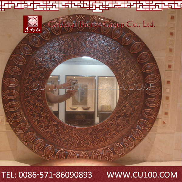 High QualityWall Mounted Copper Hollywood Mirror