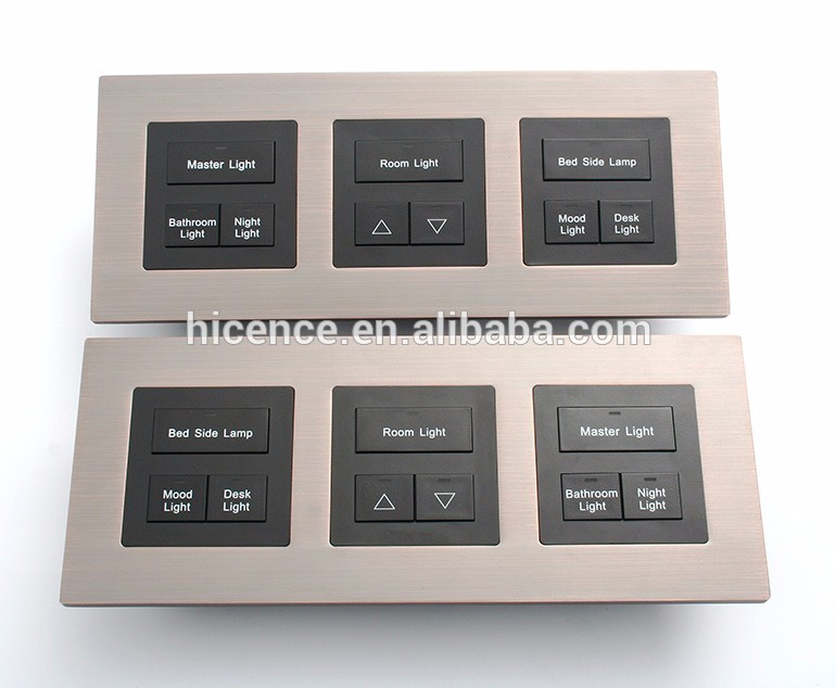 Modbus 1/2/3/4/5/6/8 buttons Hotel Networked Touch Light Switch