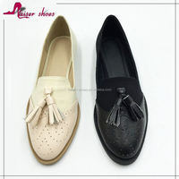 SSK16-317 low price slip on ladies loafer shoes women flat shoes