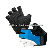 Ladies finger less weight lifting gloves gym gloves